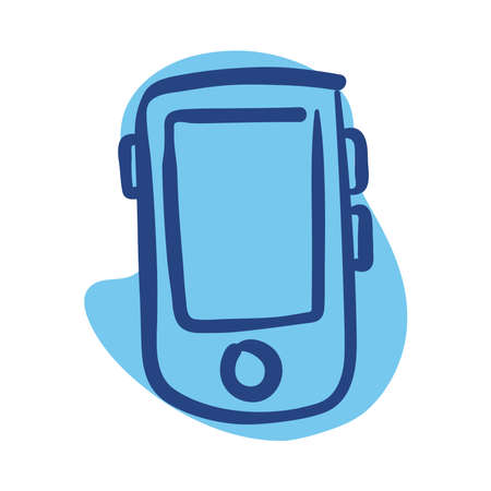 smartphone device line style icon vector illustration design