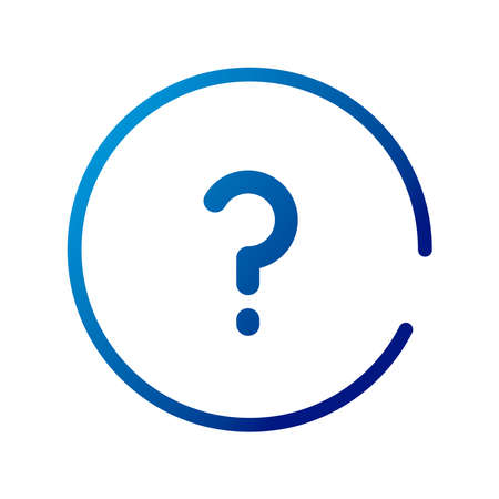 question sign gradient style icon vector illustration design Ilustrace