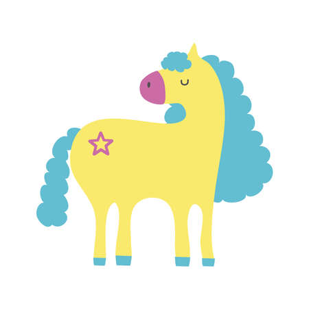 cute unicorn with floral tatto hand draw style icon vector illustration design