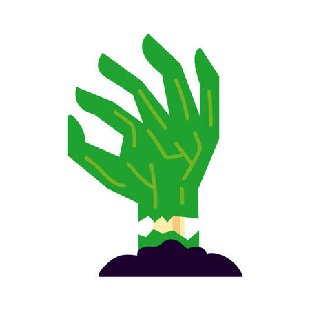 death hand flat style icon vector illustration design