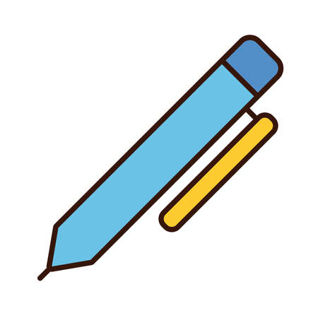 pen school supply line and fill style icon vector illustration design
