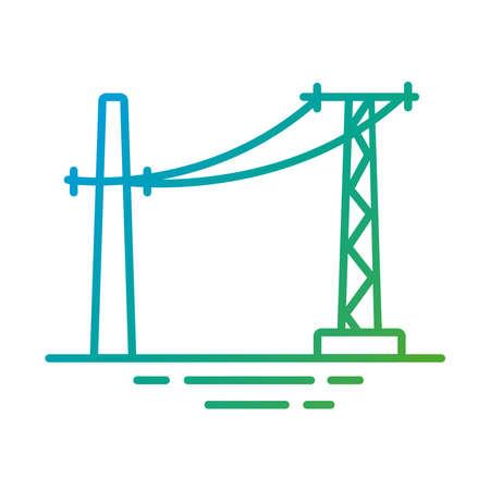 electrics lines gradient style icon vector illustration design