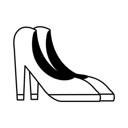 heels shoes line style icon vector illustration design