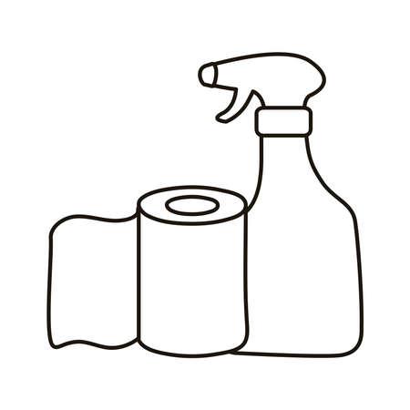 spray bottle medical product silhouette style vector illustration design