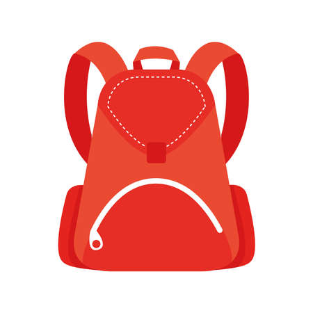 school bag equipment flat style icon vector illustration design