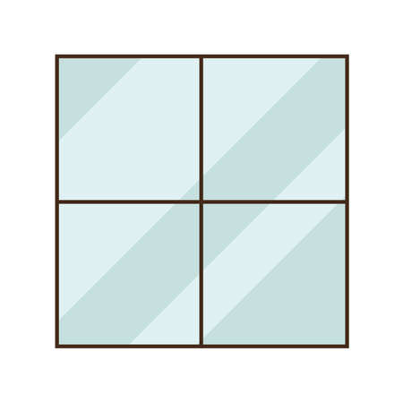glass window design, architecture home and house theme Vector illustration