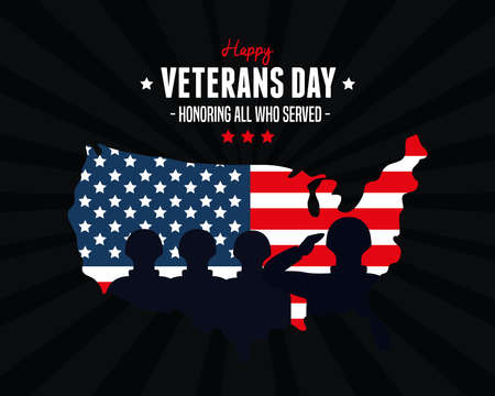 country of military in day veterans war vector illustration design