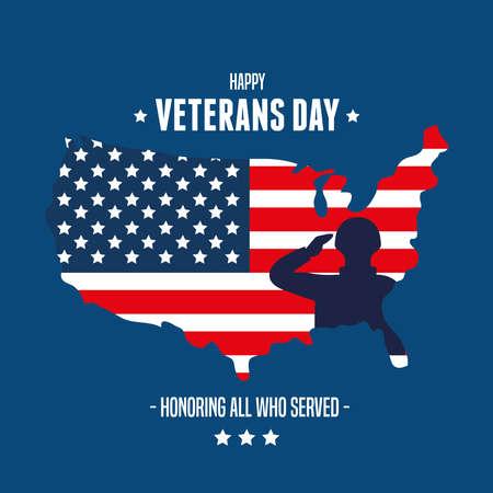 united states of war veterans day vector illustration design  イラスト・ベクター素材