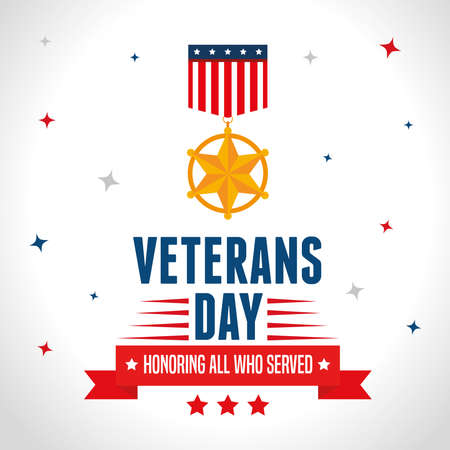 united states of america war veterans day vector illustration design Vettoriali