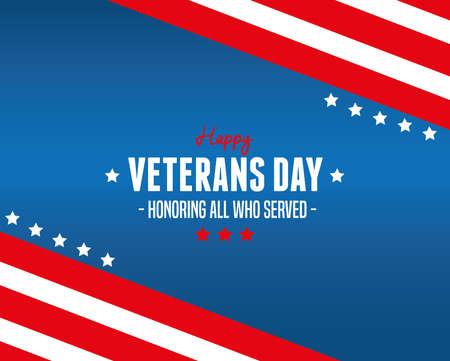 poster of celebration day veterans war vector illustration design