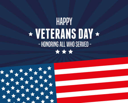 happy poster of veterans day vector illustration design  イラスト・ベクター素材