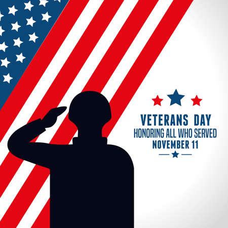 united states of america war veterans day vector illustration design  イラスト・ベクター素材