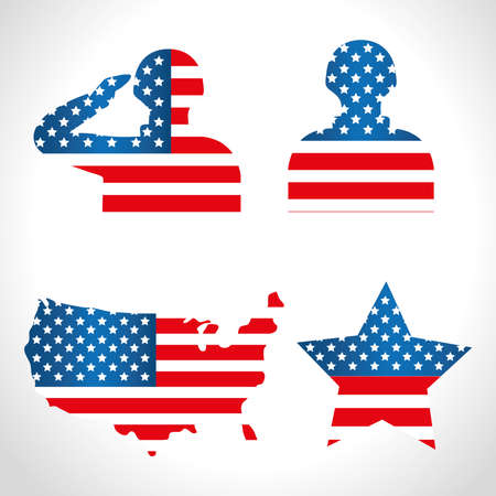 silhouette for day of veterans war vector illustration design