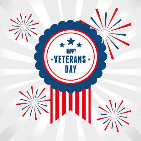 medals for veterans of war in united states vector illustration design  イラスト・ベクター素材