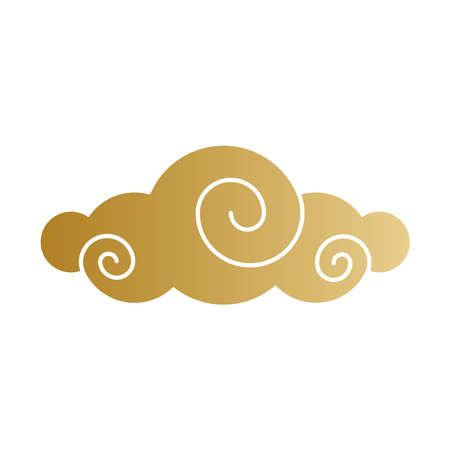 Chinese cloud gold design, China culture asia and oriental theme Vector illustration Ilustração
