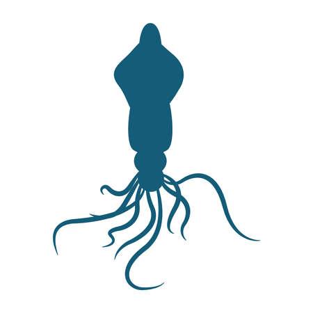 octopus animal design Sea life ecosystem fauna and ocean theme Vector illustration Stock Illustratie