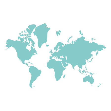 World blue map design, Planet continent earth and globe theme Vector illustration
