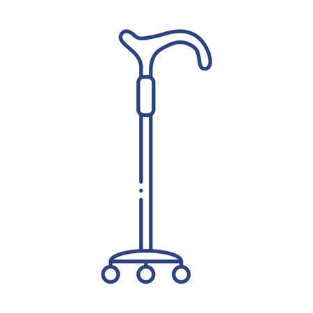 cane disabled tool line style icon vector illustration design