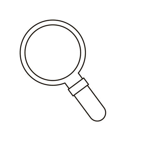 search magnifying glass flat style icon vector illustration design