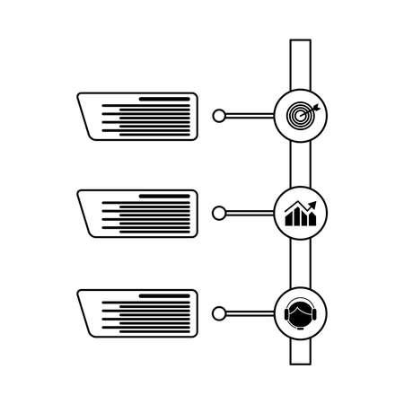 success infographics statistics line style icon vector illustration design