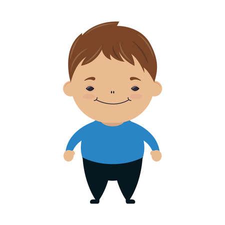 happy little boy avatar character vector illustration design