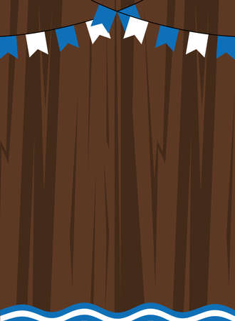 oktoberfest wood background with banner pennant design, Germany festival and celebration theme Vector illustration Ilustração