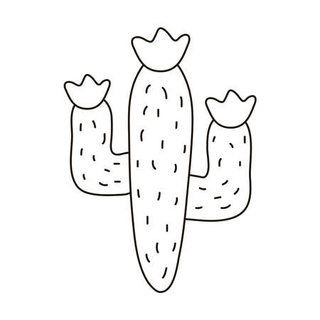 cactus mexican plant line style icon vector illustration design 矢量图像