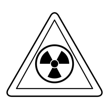 nuclear triangle signal caution icon vector illustration design