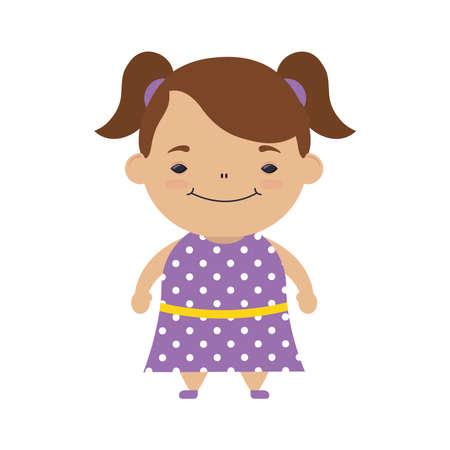 happy little girl avatar character vector illustration design 向量圖像