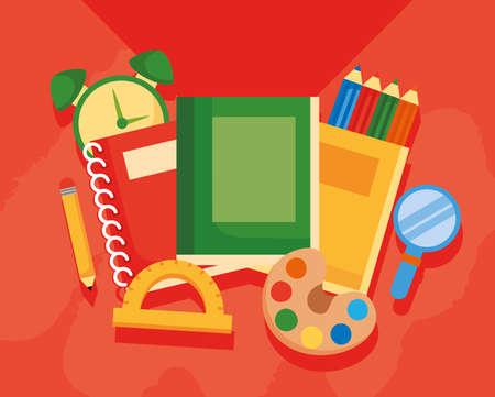 school supplies elements tools icons vector illustration design
