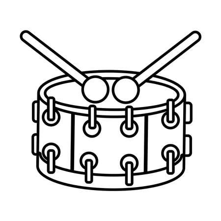 drum musical instrument line style icon vector illustration design