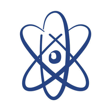 atom molecule free form style icon vector illustration design