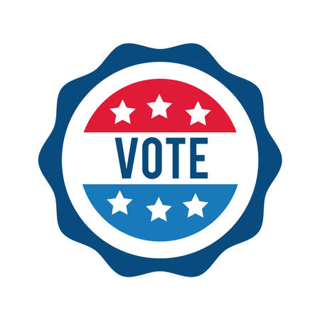 vote word in lace usa elections flat style icon vector illustration design 向量圖像