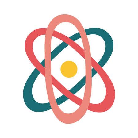 atom molecule flat style icon vector illustration design