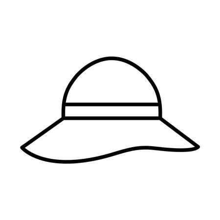 Hat line style icon design, Cloth costume accessory decoration uniform object season and traditional theme Vector illustration Illusztráció