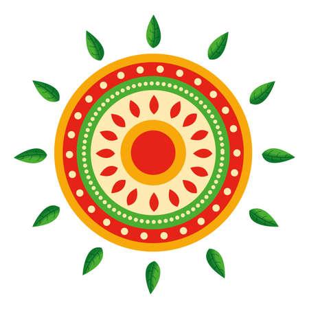 Mandala design, Bohemic ornament meditation indian decoration ethnic arabic and mystical theme Vector illustration Ilustracje wektorowe