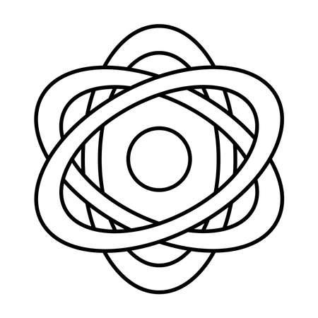 atom molecule line style icon vector illustration design
