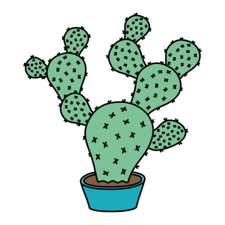 cactus mexican plant isolated icon vector illustration design 矢量图像