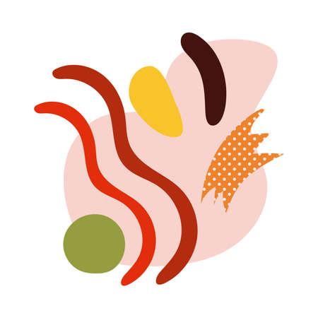 contemporary art work texturestyle icon vector illustration design
