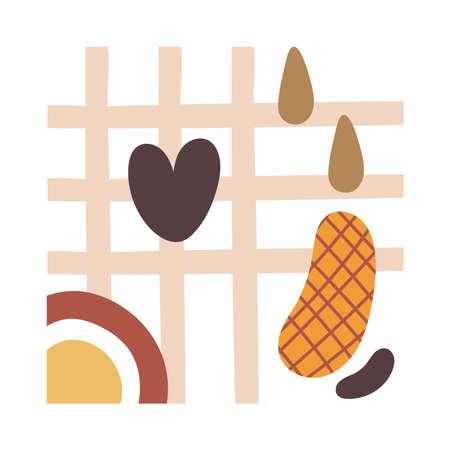 contemporary art work textile style icon vector illustration design 일러스트