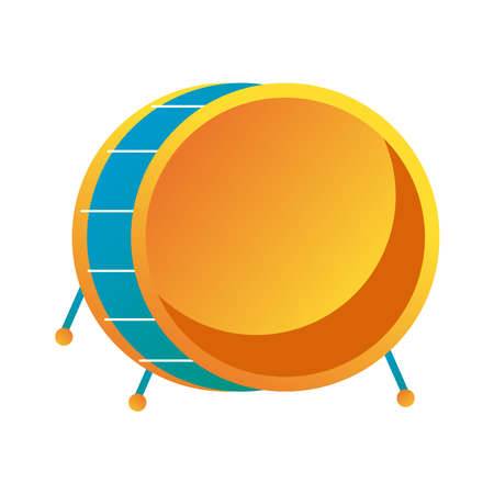 drum musical instrument line and fill style icon vector illustration design
