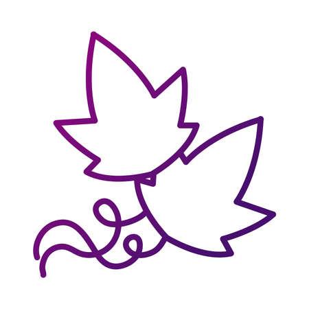 grapes leaves plant gradient style icon vector illustration design 矢量图像
