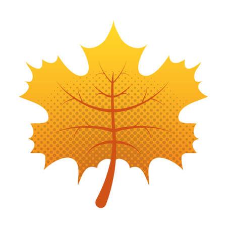 autumn leaf foliage seasonal icon vector illustration design
