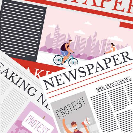 news papers communication pattern background vector illustration design Vektorgrafik
