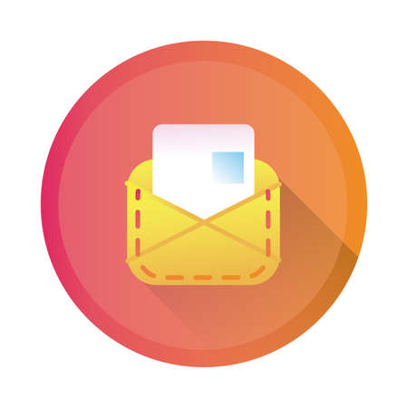 envelope mail detailed style icon vector illustration design