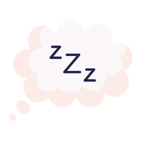 sleeping zzz bubble design, insomnia and night theme Vector illustration
