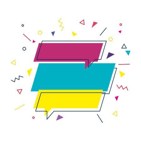 Communication bubbles design, Message discussion conversation and chatting theme Vector illustration