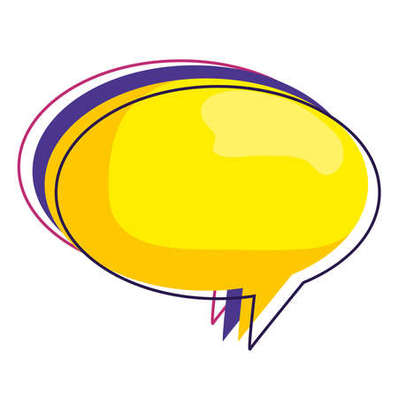 Communication bubble design, Message discussion conversation and chatting theme Vector illustration