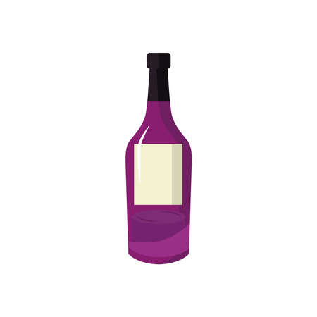 Wine bottle icon design, Winery alcohol drink beverage restaurant and celebration theme Vector illustration