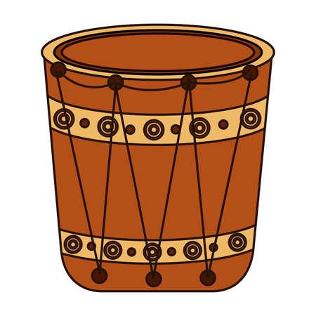 indian folk drum instrument icon vector illustration design Illusztráció